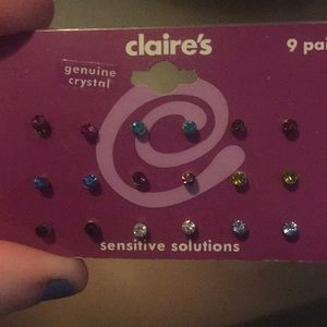 9 pair earring set from Claire's